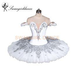 Queen Stage Costumes NZ - White Doll Professional Snow White Queen YAGP Ballet Tutu Women Nutcracker Classical Platter Ballet Stage Costume Women BT9082