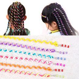 Diy Curls Hair Rollers Australia - LNRRABC Fashion 6pcs Magic Hair Curler Spiral Curls Roller Curl Size 23 cm Hair Rope DIY Styling Tool Accessories