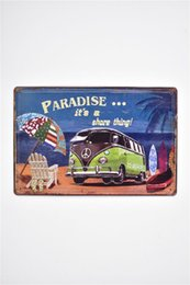 Wholesale bus bars for sale - Group buy Paradise Travel Beach Bus Vintage D Embossed Rustic Home Bar Pub Hotel Restaurant Coffee Shop home Decorative Metal Retro Metal Tin Sign