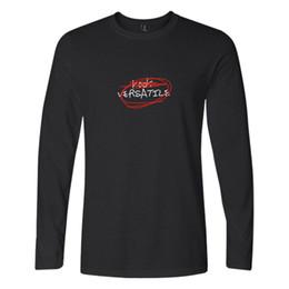 Exo Graffiti Letters Kook Versatile Mens Full Sleevs Hand Painted T Shirts Unicotton O Neck Long Sleeves Casual T Shirt Top