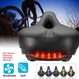 Bicycle Roads Australia - Breathable Bicycle Saddle with LED Taillight Professional Road MTB Gel Comfort Bike Seat Safety Shockproof Cycling Cushion Pad