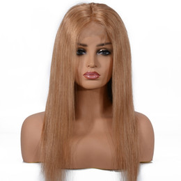 China Half Hand Made Human Hair Front Lace Wig for Women Brazilian Indian Malaysian Peruvian Frontal Wigs suppliers