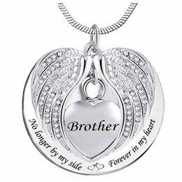 Großhandel Herz Feuerbestattung Urn Halskette für Asche Urn Schmuck Erinnerungs Anhänger - immer in meinem Kopf für immer in meinem Herzen