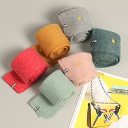 Discount little girls scarfs - Hot High Quality Amazing Winter Children Kids Scarf Solid Color Little Boy Girl Knitted Scarves Warm Thickened scarf IB6