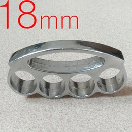 Chinese  Heavy and Thickness 18mm steel BRASS KNUCKLE DUSTERS BUCKLE defend oneself Powerful hand clasp Self-defense Convenient to carry fox 1pc manufacturers