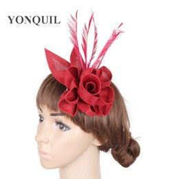 af92309a3f3b1 New arrival DIY hair party fascinators hat with feather fascinator party  hair clip decoration bridal wedding cocktail headwear
