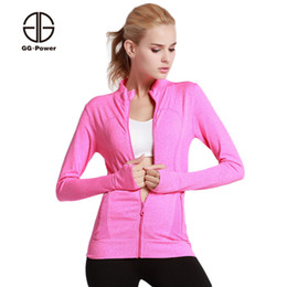 $enCountryForm.capitalKeyWord Canada - GG.POWER Gym Sweat Running Jackets Women Stand Collar Sports Sweatshirts Exercise Lady Athletic Fitness Jersey Slim Joggers Tops