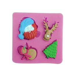 $enCountryForm.capitalKeyWord UK - Silicone Mold Santa Claus Christmas tree fondant molds 4 styles Embossed sugar art tool chocolate mold silicone cake molds bakaware