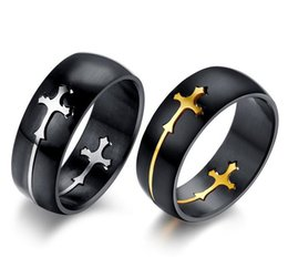 Wholesale Top Quality Titanium Ring with Cross Charms Moveable Cross Titanium Ring Both Men Women Style