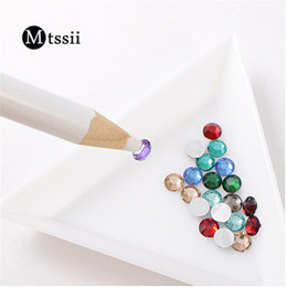 Wholesale Mtssii White Nail Art Rhinestones Gems Picking Tool D DIY Design Painter Pencils Nail Dotting Tools