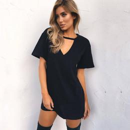 $enCountryForm.capitalKeyWord Australia - Women Summer T-Shirt 2018 Casual Loose Short Sleeve TShirts Sexy V-Neck Cotton Tee Shirt Femme Ladies Long Tops Plus Size 3XL