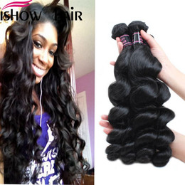 Discount maylasian weft hair - Free Shipping Maylasian Brazilian Peruvian Unprocessed Virgin Hair Loose Wave Hair 4 Bundles Ishow Top 8A Hair Weave 8-2