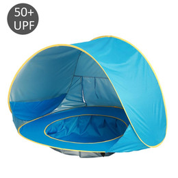 outdoor pop up tents kids NZ - Baby Beach Tent UV-protecting Sunshelter with Pool Waterproof Pop Up Awning Tent Kids Outdoor Camping Sunshade Beach