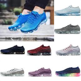 5b8d2918baf0 Glacier Blue Vapormaxes 2018 Running Shoes For Trainers Women Sports Shoes  New Vapor Wave Male Shoe Black Triple White Female Designer shoes
