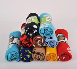Pets Car Seat Mat Soft Warm Fleece Paw Print Puppy Dog Cat Blanket Bed Sofa Pet Cushion Cover Towel 3 Sizes