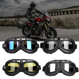 Half Helmet Goggles Australia - Cycling Motorcycle Goggles Helmet Outdoor Riding Motocross Anti Dust Glasses Half Face Helmet Bike Racing Equipment