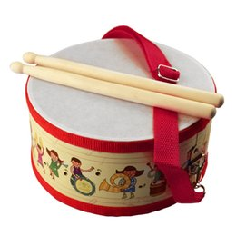 infant drums NZ - Drum Wood Kids Early Educational Musical Instrument for Children Baby Toys Beat Instrument Hand Drum Toys
