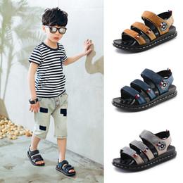$enCountryForm.capitalKeyWord Canada - Summer Children Genuine Leather Sandals Catamite Beach Shoes Cowhide Kids Boys Girls Sandals Leisure Time Kids Shoes
