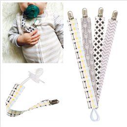 4 pçs / set Bebê Chupeta Clipe Cadeia Manequim De Algodão Titular Chupetas Chupeta Chupetas Clips Strap Mamilo Titular Para A Alimentação Do Bebê Infantil