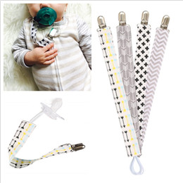 Wholesale 4pcs set Baby Pacifier Clip Chain Cotton Dummy Holder Chupetas Soother Pacifier Clips Strap Nipple Holder For Infant Baby Feeding