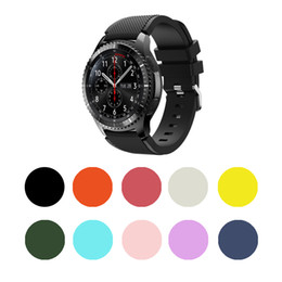 smart watches for samsung Australia - For Samsung Gear S3 Strap 10 Color Sports Silica Gel Strap Breathable Band Strap Bracelet For Tracker Smart Watch
