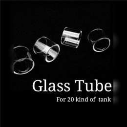 Micro Mini baby online shopping - TFV4 Mini Nano TFV4 Elabo Atomizer TFV8 Big Baby TFV12 Prince Vape pen Micro TFV4 ml ml Clear Replacement Pyrex Glass Tube DHL FREE
