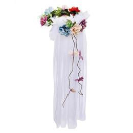 $enCountryForm.capitalKeyWord UK - Women Girls Sexy Flower Lace Veil Headband Bridal Floral Wreath Hairbands Hair Accessory Party Favors Christmas Halloween