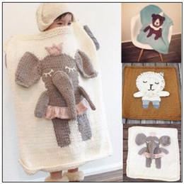 ElEphants baby online shopping - 5 Styles cm Baby Blankets INS Unicorn Swaddling Knitted Animal Bedding Toddler Fashion Swaddle Newborn Elephant Blanket CCA9155