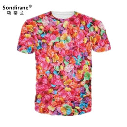 $enCountryForm.capitalKeyWord UK - new Fashion Women Men's Fruity Pebbles Colorful 3D Print T Shirts Casual Short Sleeve Hip Hop Tops Summer Quick Dry Tees Cheap clothing