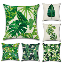 tropical print 2019 - Rainforest Leaves Africa Tropical Plants Linen Pillow Case Comfortable Chair Sofa Cushion Cover Household pillowcase T3I