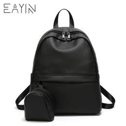 28f7e42106f9 EAYIN Brand Women Backpack PU Leather School Bags With Mini Purse Bolsas  Mujer Female Korean Style Backpack Rugzak Back Pack Bag
