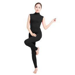ba65f01555f NyloN romper online shopping - Ensnovo Women Sleeveless Unitard Lycra Skin  Suit Lycra Nylon Spandex Jumpsuit