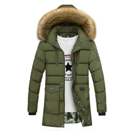 dad43a5b493ed Winter coat army style fur online shopping - Thicken Warm Winter Duck Down  Jacket for Men