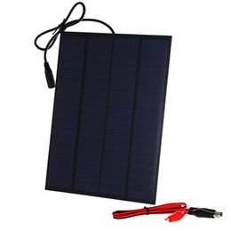 Wholesale solar panels 5W online shopping - 2Pcs W V Mini Encapsulated Solar Cell Panel DC Output with Alligator Clip Solar Cell for Solar System and Battery Charger