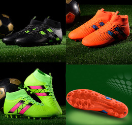 Cheap Pvc Football Canada - 2018 Mens high ankle FG soccer cleats Hypervenom Phantom III DF soccer shoes neymar IC football boots cleats Men football shoes Cheap