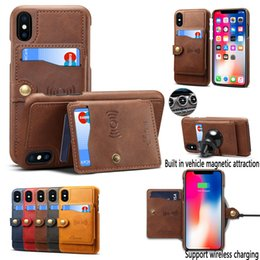 $enCountryForm.capitalKeyWord NZ - wholesale for iPhone X XS XR Xs Max Cover High Grade Leather Thin Light Card Slot Kickstand Shockproof Case for iPhone 7 8Plus 6 6s
