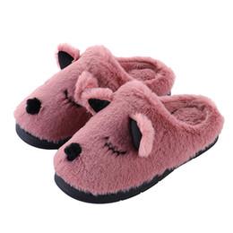 250441d63d0 Winter men women couple house indoor slippers warm plush home bedroom shoes  ladies cute cartoon furry platform slides footwear