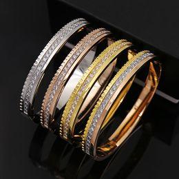 Inner Bezel Canada - New titanium steel Middle Eastern retro style men's charm bracelet 18K gold-plated mixed color men's bracelet inner diameter 6.3*5.2CM