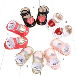 $enCountryForm.capitalKeyWord Australia - Infant baby first walking shoes outdoor flats shoes with cute heart baby sandals prewalker anti slip for girls 0-1 years A