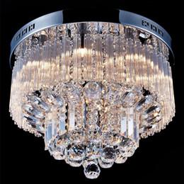 Room light fixtuRes online shopping - Modern K9 Crystal Raindrop Chandelier Lighting Flush mount LED Ceiling Light Fixture Pendant Lamp for Dining Room Bedroom with G9 Bulbs