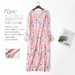 822eb7c407 Women Print Nightgown Cotton Comfortable Nightdress Loose Girl Sleepwear  Long Sleeve Casual Ladies Homewear Clothes Nightshirt