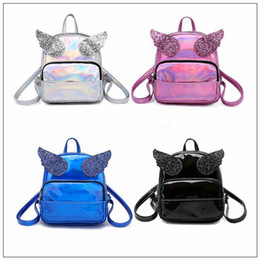 Discount new backpacks - 4 Colors New Hologram Laser Backpack Cute Girls Shoulder Bag Women Small Bling Sequins Angle Wings Backpack Outdoor Ruck