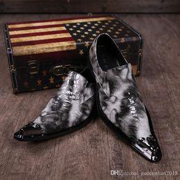 $enCountryForm.capitalKeyWord NZ - Crocodile Grain Mens Dress Shoe Design For Wedding Height Increasing Mens Leather Shoes Italian Creepers Shoes Mens Driving Run Plus Size 46