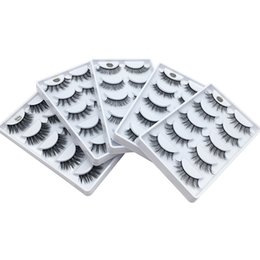 Wholesale Brand New natural long thick D mink hair lashes hand made reusable false eyelashes makeup for women pairs pack DHL Free fake lashes