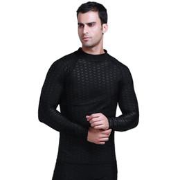 $enCountryForm.capitalKeyWord NZ - Men Rashguard Black Solid Swim Shirts Long Sleeve Sunscreen Upf 50 Wetsuit Lycra Top Rash Guard Men Swimwear T-Shirts Sharkskin Drop Ship J