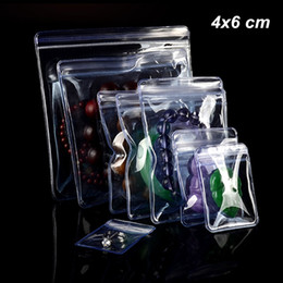 earring pieces NZ - 4x6 cm 100 Pieces Small Clear PVC Anti-Oxidation Zip Lock Packaging Bags for Earring Resealable Jewelry Making Supplies Organziers Holder