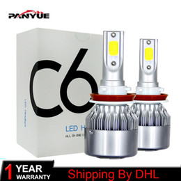 headlights h4 cob led Canada - 1pairs Auto Car H8 H11 H7 H4 H1 LED Headlights 6000K Cool white 72W 8000LM COB Bulbs Diodes Automobiles Parts Lamp2Pcs Car Styling 12V LED C