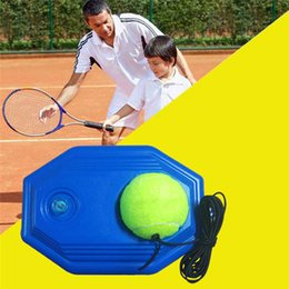 Discount practice kits - Single Tennis Trainer Tool Kit Practice Beginner with A Rope Self-study Tennis Rebound Player with Trainer Baseboard + 1