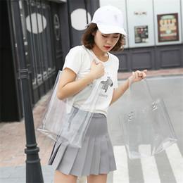 $enCountryForm.capitalKeyWord NZ - 2018 Summer Hot Sale Hologram Transparent Plastic Handbags beach Shoulder bag Women Trend Tote Jelly Fashion PVC Clear Bag Funny