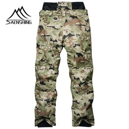 Warm Waterproof Pants Men NZ - SAENSHING Men Ski Pants Snowboarding Thicker Camouflage Winter Outdoor Waterproof Windproof Warming Nylon Free Delivery